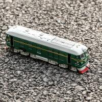 1:87东风火车头合金模型声光回力古典绿皮火车模型儿童玩具车