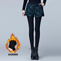 新年优惠【NEW】秋冬季假两件打底裤加绒加厚毛呢短裤女外穿踩脚黑色阔腿保暖靴裤
