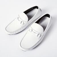 【2件2.5折到手价:125】MECITY男装2019春季新款男牛皮司机鞋休闲鞋