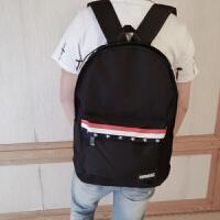 男生双肩包休闲时尚高中生帆布书包韩版学生电脑背包旅行潮流新款
