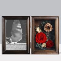 个性定制打印照片情人节结婚生日礼物diy手工 实木相框永生玫瑰花