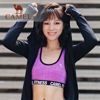 骆驼休闲运动套装女专业运动跑步背心健身显瘦速干三件套