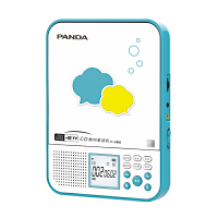 熊猫/PANDA F-386便携CD机随身听英语学习机复读机mp3插卡U盘外响光碟播放器光盘播放机 蓝色