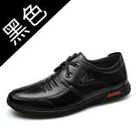 皮鞋男士秋冬季2018新款棉黑色商务韩版爸爸鞋中老年休闲男鞋