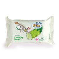 韩国Sanita U-ZA婴幼儿黄瓜滋润温和抵御洗涤去污除渍洗衣皂 204g