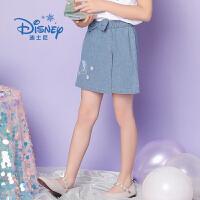 【3件2折后:54.9元】迪士尼冰雪奇缘童装女童夏装2020春夏新品牛仔裙裤