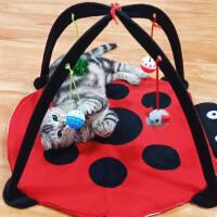 猫咪床猫吊床宠物用品猫窝垫子帐篷玩具可折叠多功能小猫咪公主 甲壳虫猫吊床 45x45x33cm