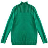 套头半高领新款韩版女装打底衫秋冬纯色宽松厚插肩袖女子短款毛衣
