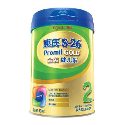 【当当自营】惠氏Wyeth  S-26金装旗舰版2段900g  罐装世界卫生组织建议纯母乳喂养至少6个月