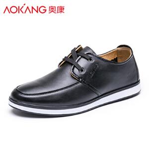 奥康男鞋春季软底休闲皮鞋男真皮韩版单鞋子男单鞋子