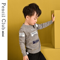 【专区99元任选2件】铅笔俱乐部儿童毛衣男童针织衫2019新款秋装小童线衫上衣百搭