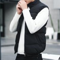 2018新款羽绒棉马甲男士外套秋冬季韩版潮流加绒加厚保暖背心坎肩