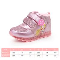 童鞋女童高帮运动鞋加绒保暖棉鞋Dabc2018秋冬新款女童鞋