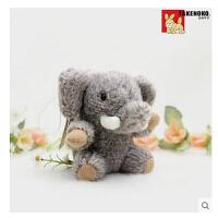 毛绒玩具小象公仔小挂件大象玩偶车内饰品包包挂件手机绳 小象 8厘米