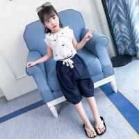 女童夏装新款套装韩版时尚夏季儿童装洋气时髦休闲两件套潮衣