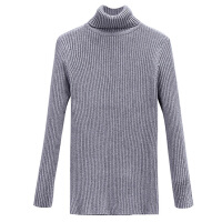 秋冬新款加大码女装修身显瘦打底衫弹力纯色高领针织毛衣打底衫女