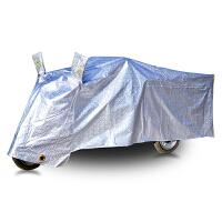 电动三轮车防雨罩老年代步车车罩残疾人摩托车车衣防晒防尘遮挡雨 三轮车银色 2X