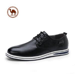 骆驼牌男鞋 2018春新款日常休闲皮鞋柔软舒适头层牛皮低帮男鞋子