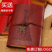 复古牛皮纸a6活页记事本韩国创意随身小日记本手账本笔记本子文具