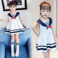 女童连衣裙童装夏季韩版时尚公主裙子女童海军风季夏宝宝裙