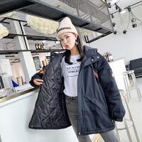 工装女冬季新款韩版原宿bf中长款连帽宽松加厚学生风衣外套潮