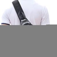 胸包男士斜挎包韩版时尚单肩包休闲骑行包男包潮 黑色