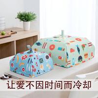 保温盖菜罩食物防苍蝇饭罩子饭菜防尘罩遮菜伞可折叠餐桌罩4lh