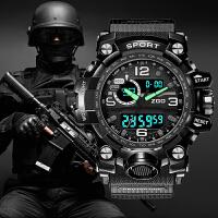 运动学生手表男士户外防水机械军表多功能战术青少年电子表