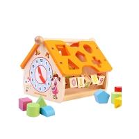 儿童玩具 积木玩具几何形状配对数字屋家庭认知1-2-3周岁宝宝