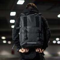 新款男士双肩包电脑包青年大初高中学生书包 时尚潮流休闲背包