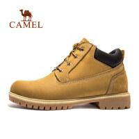 camel骆驼户外休闲鞋 秋冬防滑耐磨头层牛皮中帮男款休闲工装男鞋