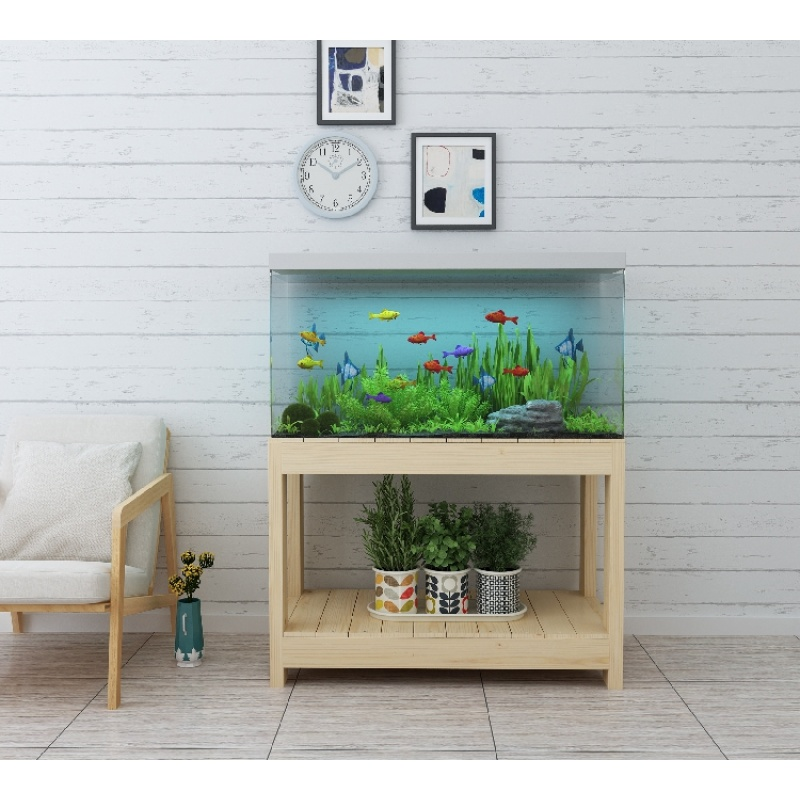 鱼柜鱼缸水族箱架子桌子草缸底座 底柜实木书房书桌公司办公
