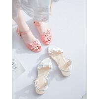 女童凉鞋平底小公主鞋夏季中大童学生软底儿童鞋