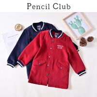 【3件价:119.1元】铅笔俱乐部童装2019冬季新款男童毛呢大衣中大童呢子外套儿童上衣