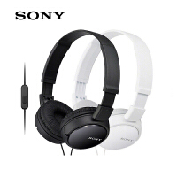 Sony/索尼MDR-ZX110AP头戴式线控带麦游戏通话耳机电脑耳麦手机英语网课听力学习男女学生官方旗舰级原装正品
