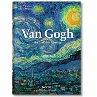 现货 塔森出版 英文原版 Van Gogh梵高绘画集精装版 梵高画册Taschen原版画集 油画艺术作品后印象派艺术进口