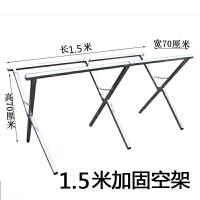 地摊货架加厚空架2米3米折叠摆地摊架子服装展示桌便携式折叠桌