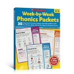 英文原版 Week-by-Week Phonics Packets PBK 帮助孩子学习发音技巧 少儿英语自然拼读Sc