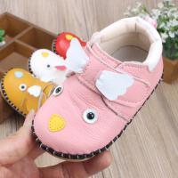 春季宝宝单宝宝学步鞋 牛皮软底透气防滑婴儿鞋 0-1岁男女童鞋
