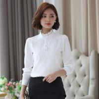 宣芸蕾丝打底衫女长袖2018春秋装新款韩版小衫立领雪纺衫上衣