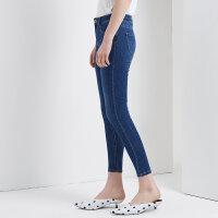 【2件4折到手价:95.6】美特斯邦威裤子女2018新款时尚紧身牛仔长裤学生潮秋季上新
