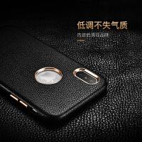 iPhonex手机壳苹果8p真皮7商务6s男款6Plus7puls保护皮套六