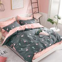 学生宿舍单人床 床单三件套1.2米儿童床上用品纯棉被套1.5m套件3
