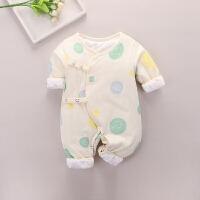 新生婴儿连体衣服秋冬幼儿保暖抱衣满月棉衣0初生3月宝宝哈衣睡衣
