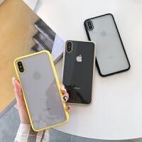 简约纯色苹果xs手机壳xr透明iphone7plus/8硅胶xsmax情侣6s软套女