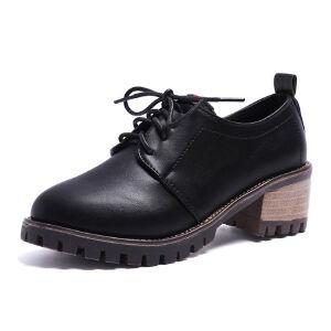 WARORWAR 2019新品YM107-183四季韩版低跟鞋女鞋潮流时尚潮鞋百搭潮牌单鞋女