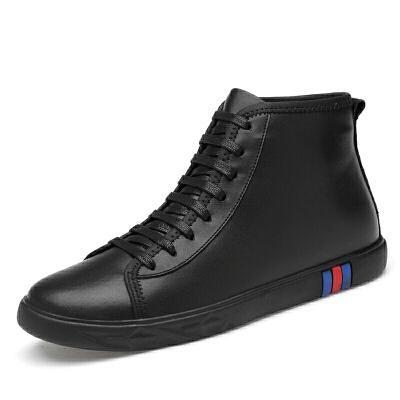 男士秋冬季潮流马丁靴男鞋休闲雪地中帮短靴真皮靴高帮男靴子