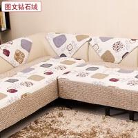 沙发垫 布艺绗缝防滑坐垫三件套1+2+3贵妃组合