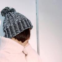 帽子女冬天毛线帽韩国秋冬季粗线保暖护耳帽韩版休闲百搭针织帽子