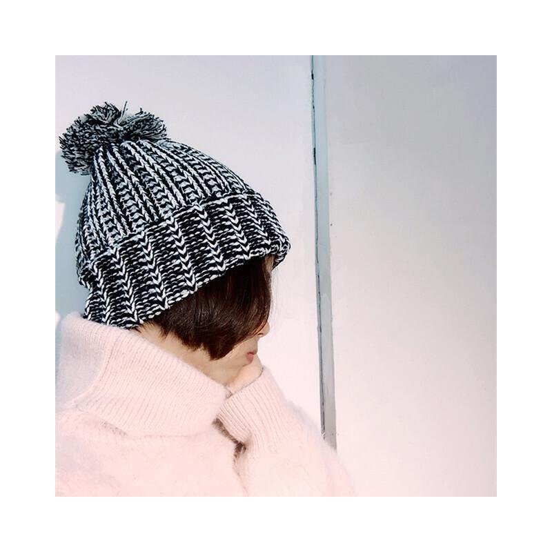 帽子女冬天毛线帽韩国秋冬季粗线保暖护耳帽韩版休闲百搭针织帽子 发货周期:一般在付款后2-90天左右发货,具体发货时间请以与客服协商的时间为准
